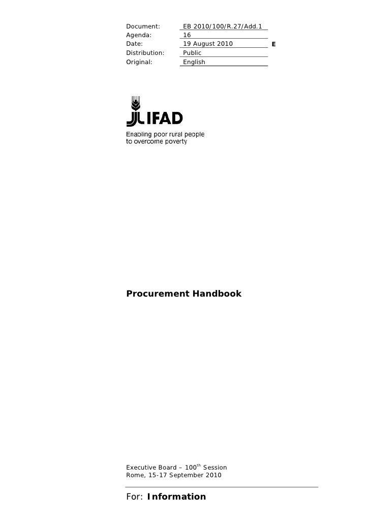 Document:        EB 2010/100/R.27/Add.1Agenda:          16Date:            19 August 2010           EDistribution:    Publ...