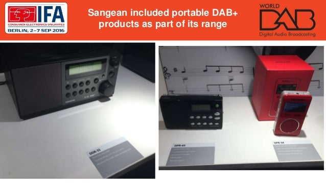 Sangean included portable DAB+ products as part of its range