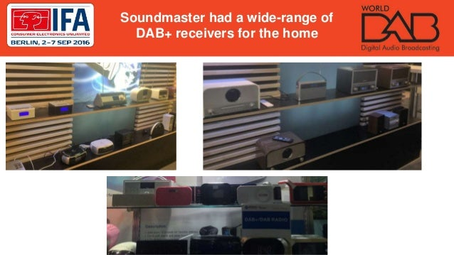Soundmaster had a wide-range of DAB+ receivers for the home