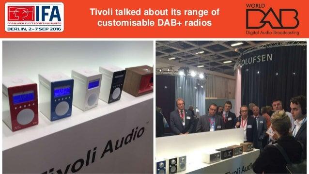 Tivoli talked about its range of customisable DAB+ radios
