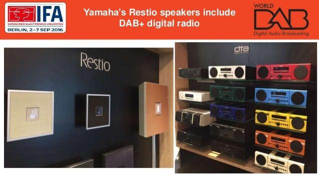 Yamaha's Restio speakers include DAB+ digital radio