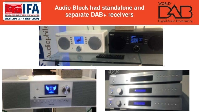 Audio Block had standalone and separate DAB+ receivers