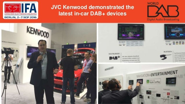 JVC Kenwood demonstrated the latest in-car DAB+ devices