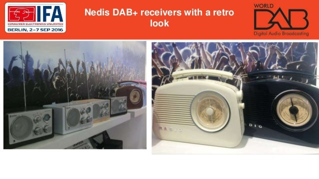 Nedis DAB+ receivers with a retro look