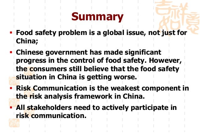 Food safety incidents in China