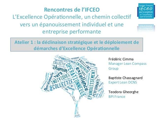 1-ObjecIfs:pourquoiundéploiementdel'ExOpauniveaud'une entreprise(enjeuxCT/MT) 15/02/16 IFCEO-Dynamiquede...