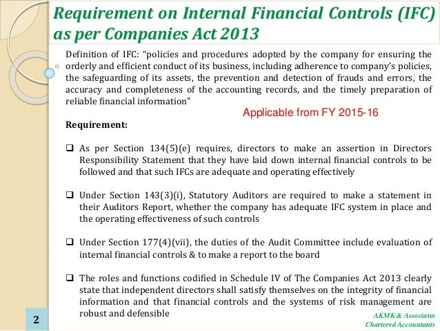 the importance of internal controls essay Internal audit & corporate governance  research study agenda the importance of internal audit function to enhance improved  inadequate internal controls,.