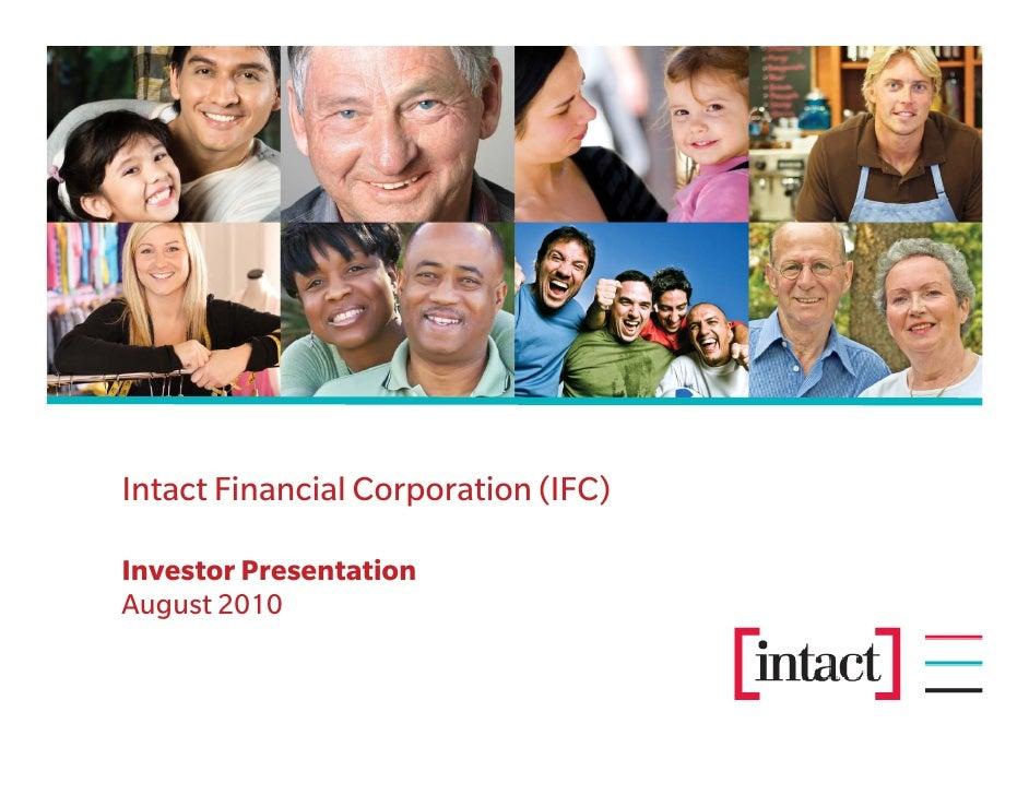 Intact Financial Corporation (IFC)  Investor Presentation August 2010
