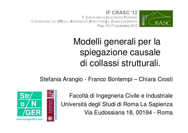 Modelli generali per la                                                     spiegazione causale                           ...