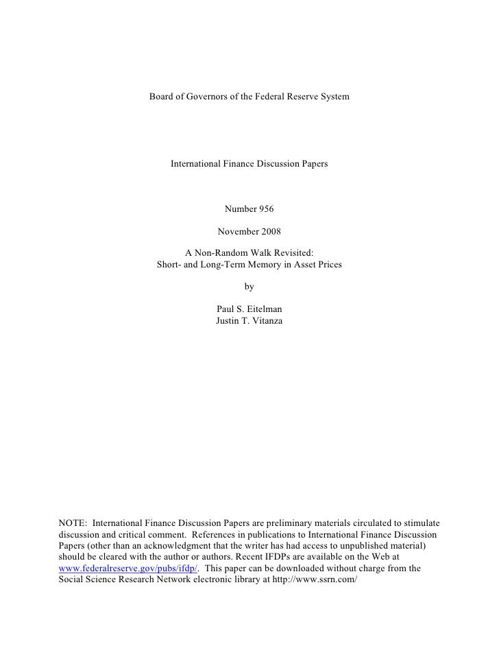 Board of Governors of the Federal Reserve System                                International Finance Discussion Papers   ...