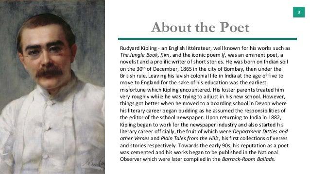 if rudyard kipling summary All of rudyard kipling poems rudyard kipling poetry collection from famous poets and poems.