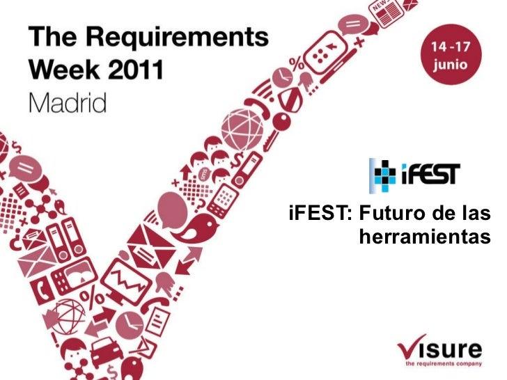 iFEST: Futuro de las herramientas