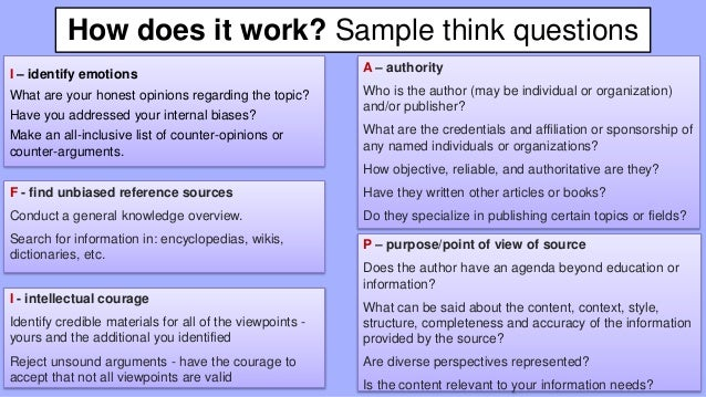 How does it work? Sample think questions I – identify emotions What are your honest opinions regarding the topic? Have you...