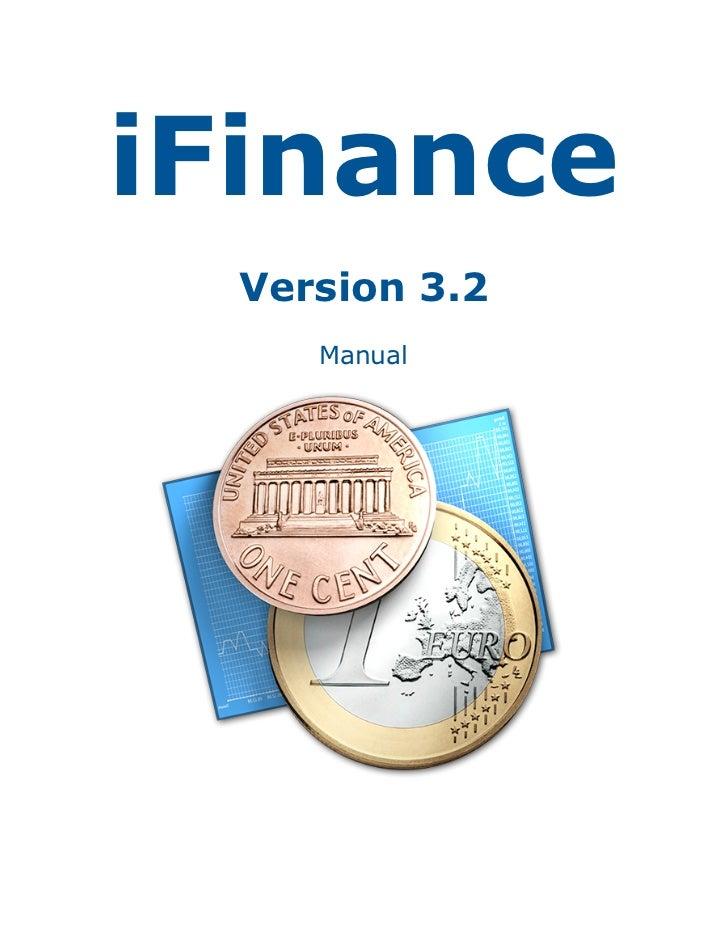 iFinance  Version 3.2     Manual