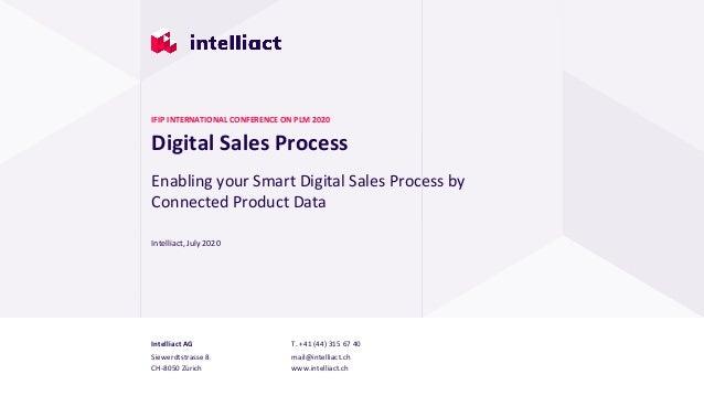 Intelliact AG Siewerdtstrasse 8 CH-8050 Zürich T. +41 (44) 315 67 40 mail@intelliact.ch www.intelliact.ch Digital Sales Pr...