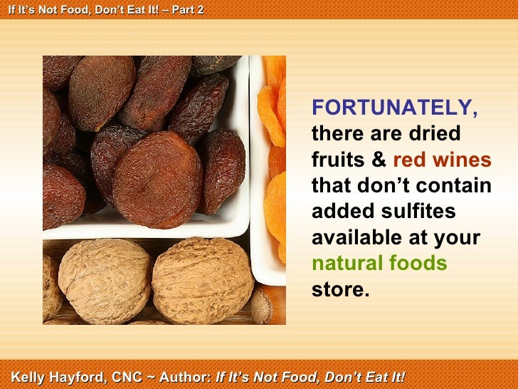 Sulfites In Natural Foods