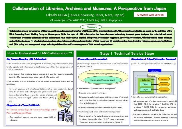 Collaboration of Libraries, Archives and Museums: A Perspective from Japan Takashi KOGA (Tenri University, Tenri, Nara, Ja...