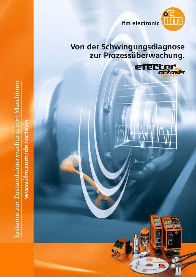 Systeme zur Zustandsüberwachung von Maschinen www.ifm.com/de/octavis  Von der Schwingungsdiagnose zur Prozessüberwachung. ...