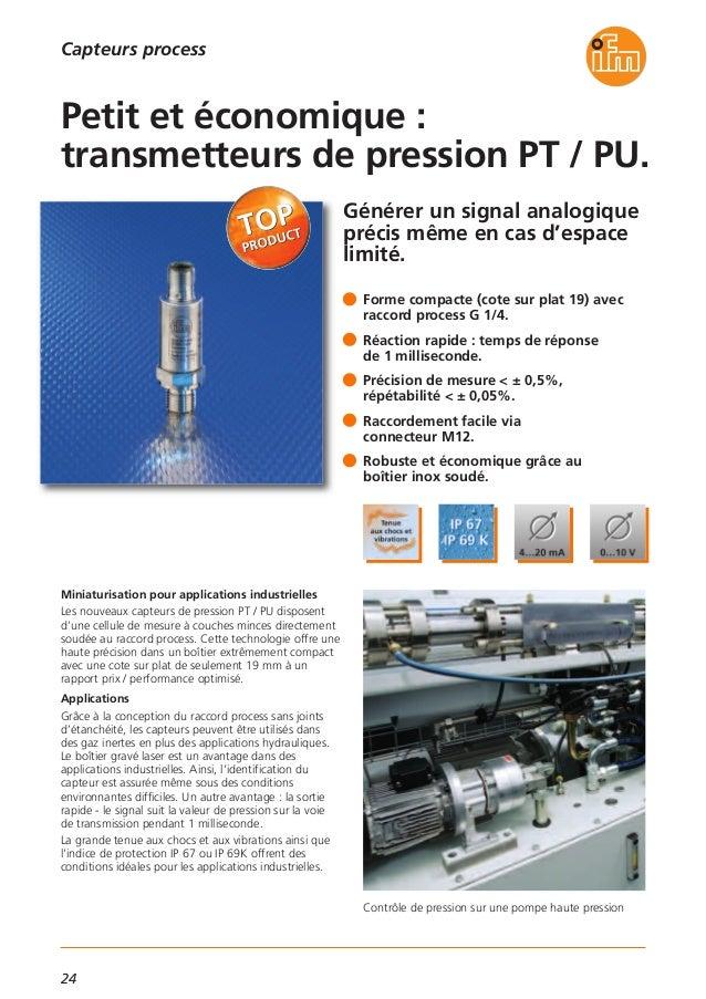 25 bar Pression émetteur 0... 4-20 mA ifm electronic pt5403 G 1//4