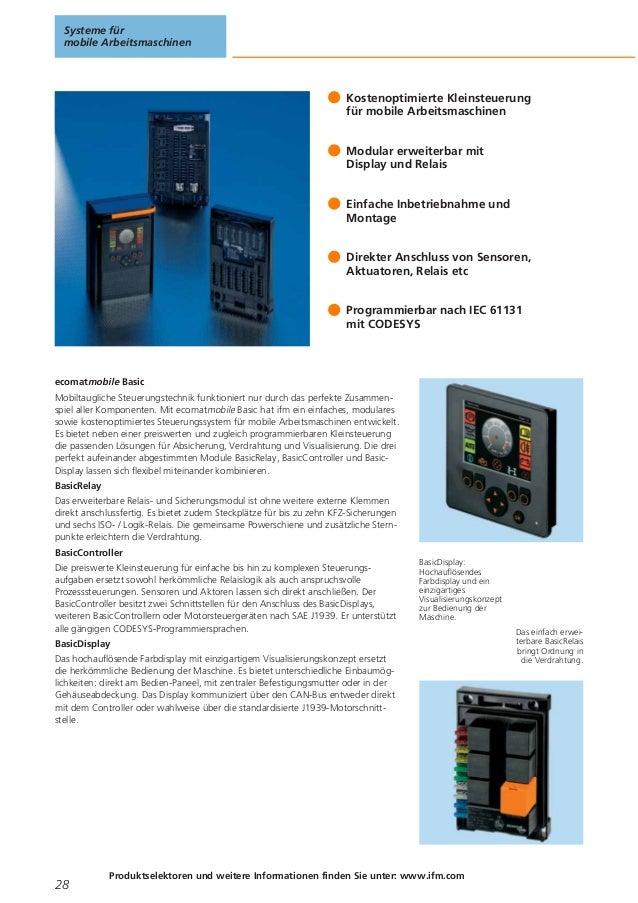 Steuerungssysteme für den Einsatz in mobilen Arbeitsmaschinen