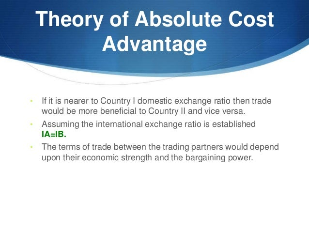 absolute cost theory of international trade