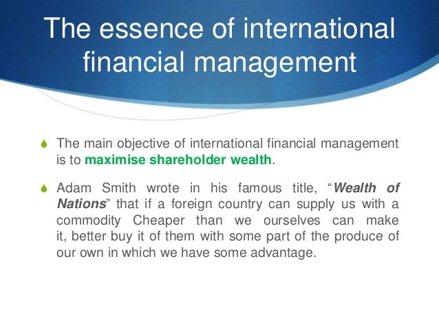 as assessment of financial management in