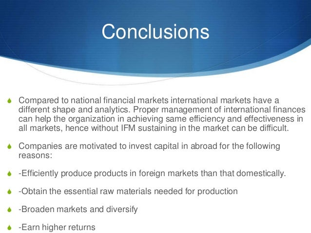 international financial management The international financial system, which consists of two segments: the official part represented by the accepted code of behavior by governments comprising the international monetary system, and the.