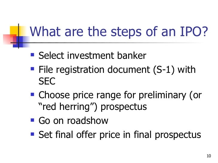 What do investment banks do in ipo