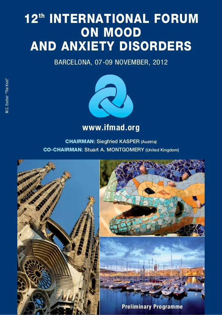 12 th INTERNATIONAL FORUM                                   ON MOOD                          AND ANXIETY DISORDERS        ...