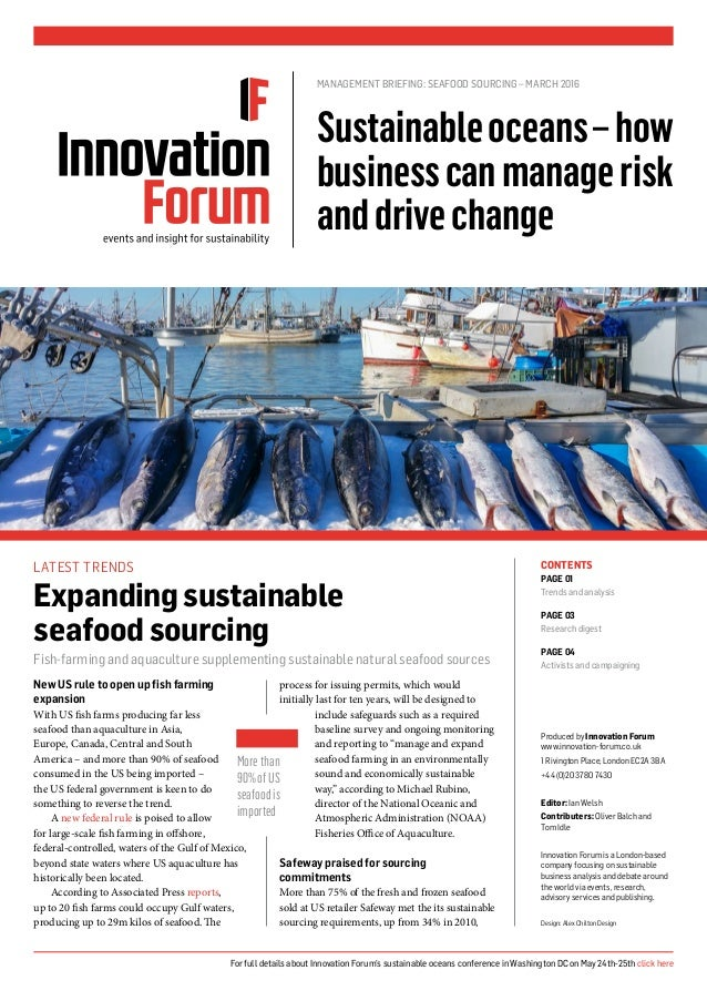 New US rule to open up fish farming expansion With US fish farms producing far less seafood than aquaculture in Asia, Euro...