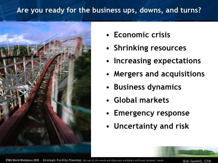 Are you ready for the business ups, downs, and turns? <ul><li>Economic crisis </li></ul><ul><li>Shrinking resources </li><...