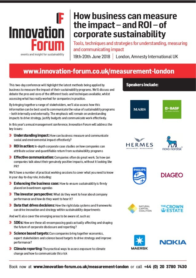 Book now at www.innovation-forum.co.uk/measurement-london or call +44 (0) 20 3780 7430 www.innovation-forum.co.uk/measurem...