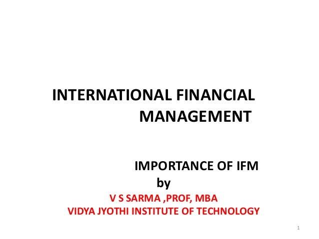 Ifm importance pptx