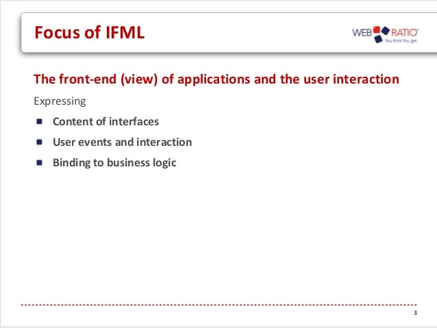 Interaction Flow Modeling Language: updates on the Beta2 version - by the OMG IFML FTF Slide 3