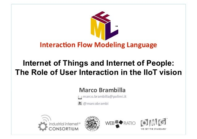 Interac(on  Flow  Modeling  Language        Internet of Things and Internet of People: The Role of User Intera...