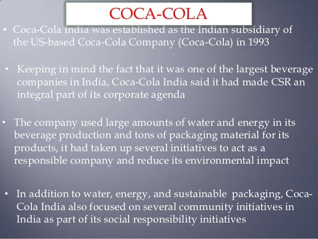 csr coca cola dissertation Corporate social responsibility (csr) and sustainability data for the coca-cola company, beverage manufacturing and usa environment 56 employees 67 community 56.