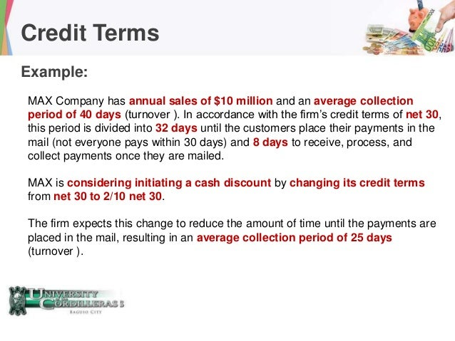 accounts receivable terms of payment