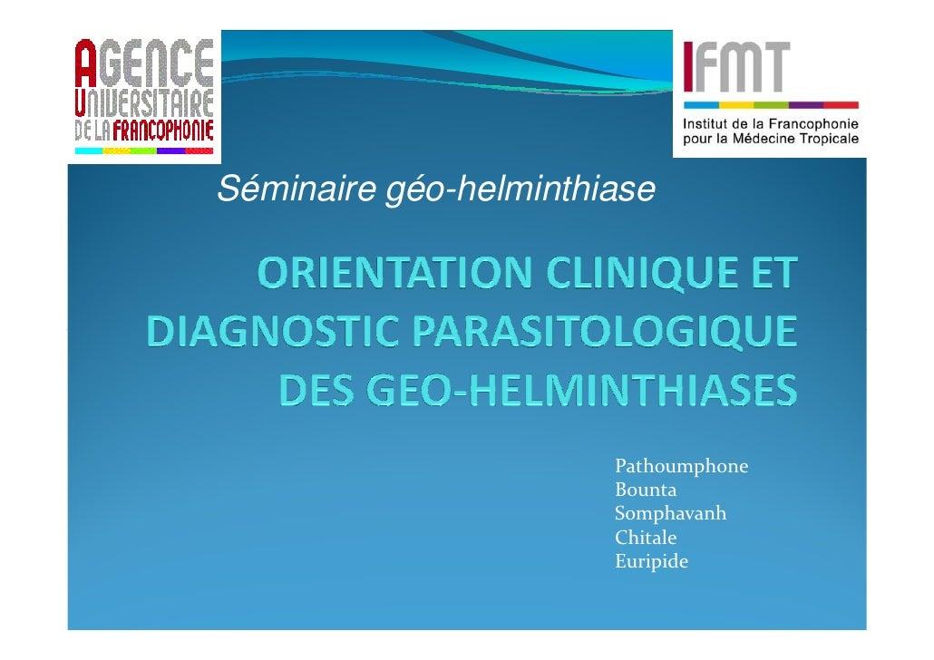 Séminaire géo-helminthiase                       Pathoumphone                       Bounta                       Somphavan...