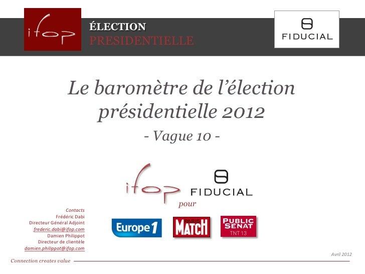 ÉLECTION                                    PRESIDENTIELLE                         Le baromètre de l'élection             ...