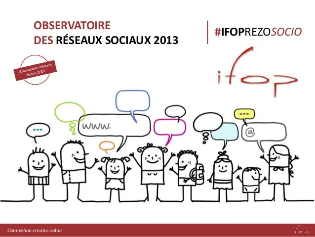OBSERVATOIRE  DES RÉSEAUX SOCIAUX 2013  #IFOPREZOSOCIO  Connection creates value