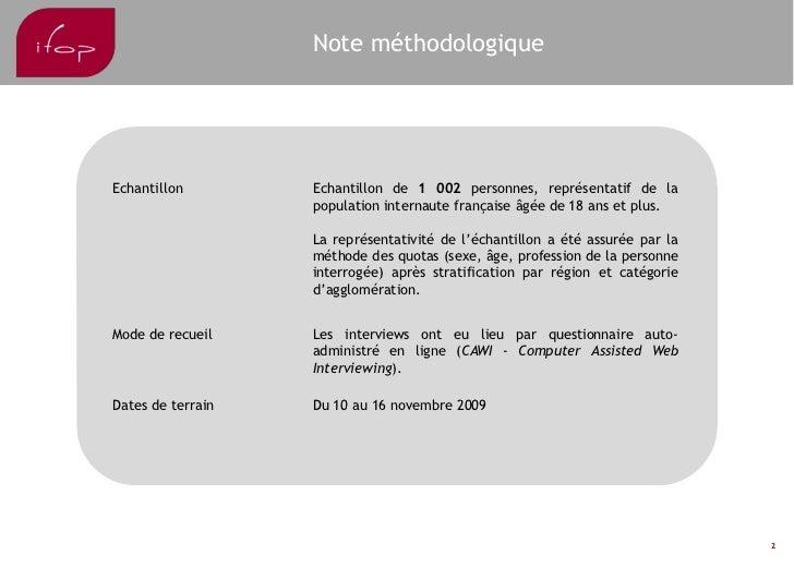 IFop Observatoire RéSeaux Sociaux Janvier 2010 Slide 2