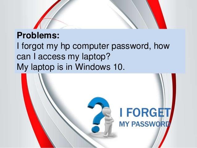 how to reset password on hp laptop windows 10