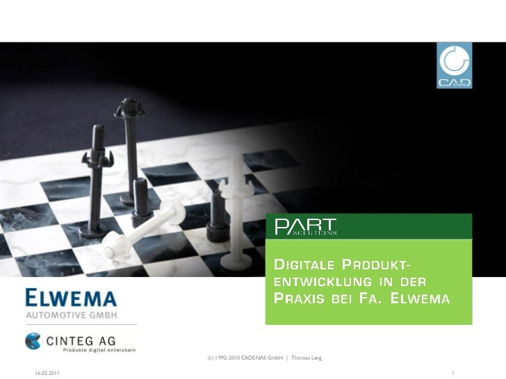 (c) 1992-2010 CADENAS GmbH | Thomas Lang16.02.2011                                              1