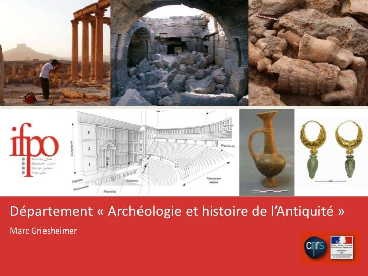 Département «Archéologie et histoire de l'Antiquité»<br />Marc Griesheimer<br />