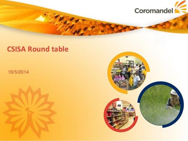 CSISA Round table 19/5/2014