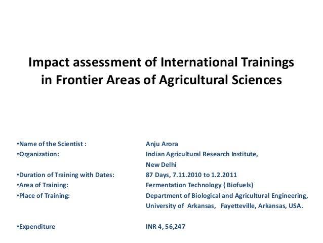 Scientific assessment tools