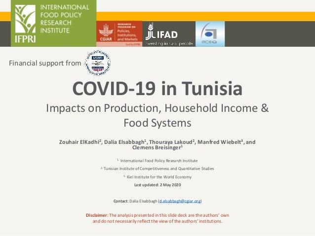 Zouhair ElKadhi2, Dalia Elsabbagh1, Thouraya Lakoud2, Manfred Wiebelt3, and Clemens Breisinger1 1. International Food Poli...