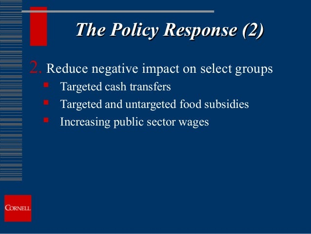 price volatility g20 policy response Macroeconomic impacts of commodity price volatility: g20 report  and industrialization within the policy response  sources of price volatility.