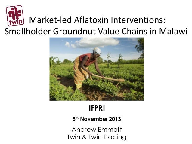Market-led Aflatoxin Interventions: Smallholder Groundnut Value Chains in Malawi  IFPRI 5th November 2013  Andrew Emmott T...