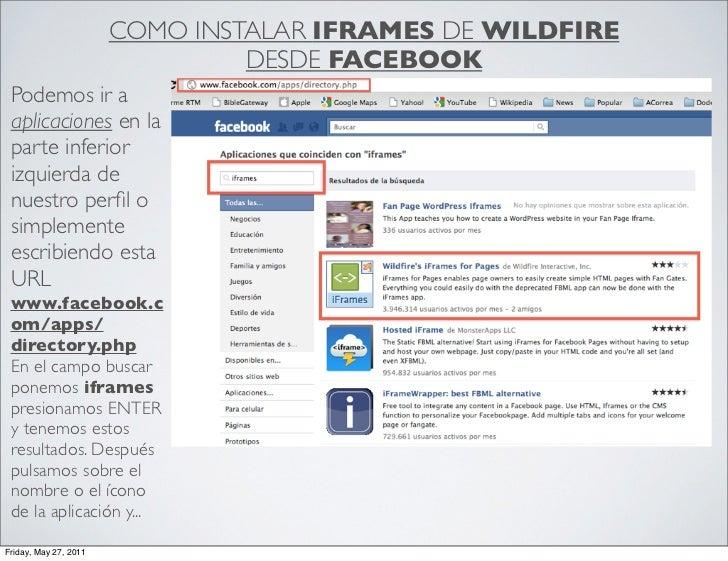 Instalar Iframe desde Facebook Slide 2
